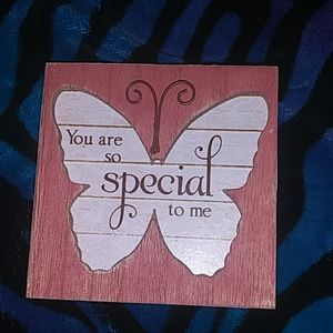 """You are special to me"" decorative block"